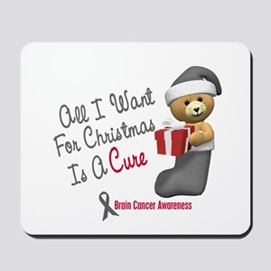 Bear In Stocking 1 (Brain Cancer) Mousepad