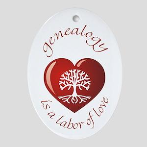 Labor of Love Oval Ornament