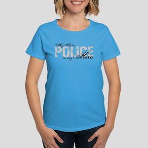 My Sister is My Hero - POLICE Women's Dark T-Shirt