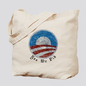 Obama Yes We Did Distressed Tote Bag