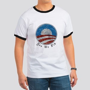 Obama Yes We Did Distressed Ringer T