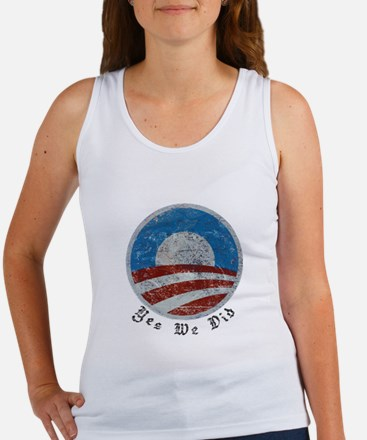 Obama Yes We Did Distressed Women's Tank Top