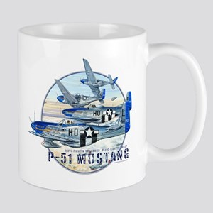 WWII 352nd FG P-51 Mustang airplane Mug