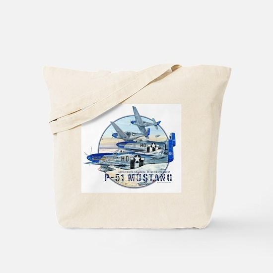 352nd FG P-51 Mustang airplane Tote Bag