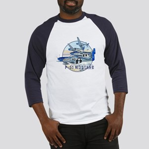 352nd FG P-51 Mustang airplane Baseball Jersey