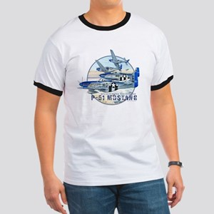 352nd FG P-51 Mustang airplane Ringer T