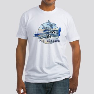 352nd FG P-51 Mustang airplane Fitted T-Shirt