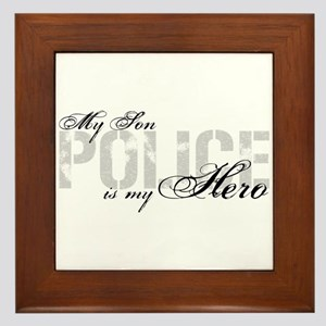 My Son is My Hero - POLICE Framed Tile