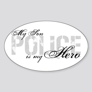 My Son is My Hero - POLICE Oval Sticker