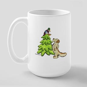 Golden Retriever Christmas Large Mug