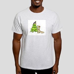 Golden Retriever Christmas Light T-Shirt