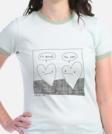 Nervous Hearts Ringer T-shirt