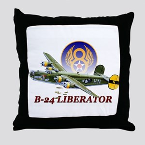WWII 8th Air Force B-24 Liberator Throw Pillow