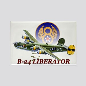 WWII 8th Air Force B-24 Liberator Rectangle Magnet