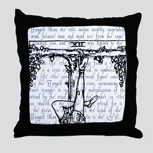 Tarot Key 12 - The Hanged Man Throw Pillow