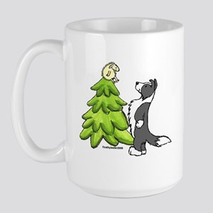 Border Collie Christmas Large Mug