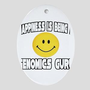 """""""Happiness..Genomics Guru"""" Oval Ornament"""