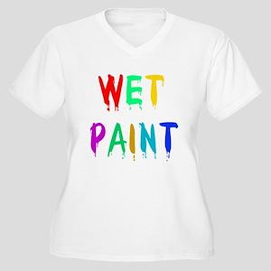WET PAINT Women's Plus Size V-Neck T-Shirt