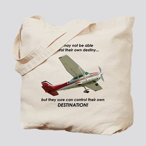 Pilots control their own destination Tote Bag