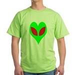 Alien Heart Green T-Shirt