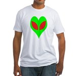 Alien Heart Fitted T-Shirt