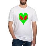 Alien Heart Fitted T-Shirt