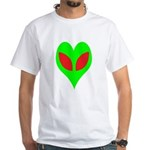 Alien Heart White T-Shirt