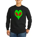 Alien Heart Long Sleeve Dark T-Shirt