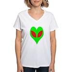Alien Heart Women's V-Neck T-Shirt