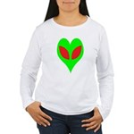 Alien Heart Women's Long Sleeve T-Shirt