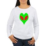 Alien Heart Women's Long Sleeve T-Shirt