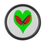Alien Heart Large Wall Clock