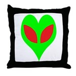 Alien Heart Throw Pillow