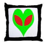 Alien Heart Throw Pillow