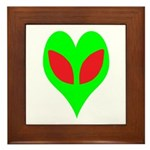 Alien Heart Framed Tile