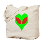 Alien Heart Tote Bag