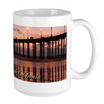 Huntington Beach Pier 2 Large Mug