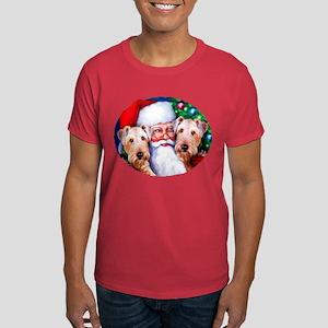 Santa's Airedales Christmas Dark T-Shirt