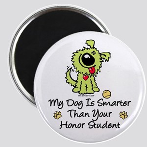My Dog Is Smarter. Funny Magnet