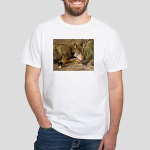 Red Wolf White T-Shirt