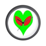 Alien Heart Wall Clock