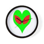 Alien Heart Wall Clock