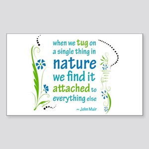 Nature Atttachment Rectangle Sticker