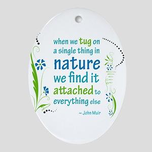 Nature Atttachment Oval Ornament