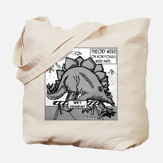 Dinosaurs & Wet Cement Tote Bag