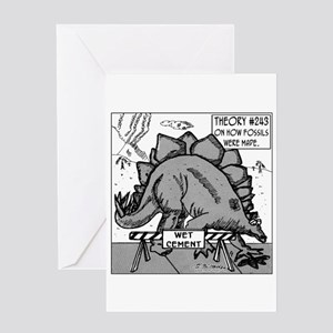 Dinosaurs & Wet Cement Greeting Card