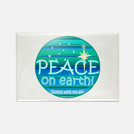 Unique Peace on earth christmas Rectangle Magnet (10 pack)