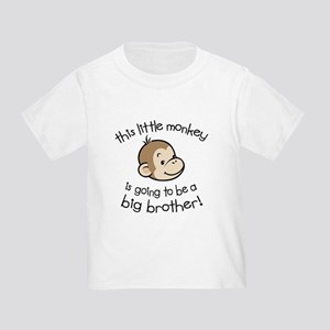 Big Brother to be - Monkey Face Toddler T-S