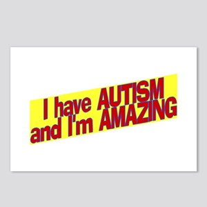 I Have Autism and I'm Amazing Postcards (Package o