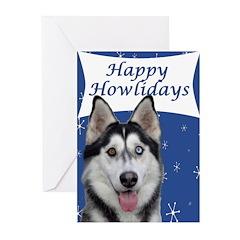 Husky Holiday Greeting Cards (Pk of 10)